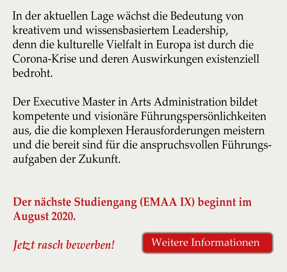 Kulturmanagement Studium Master